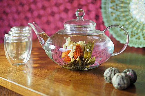Flowering Tea in action
