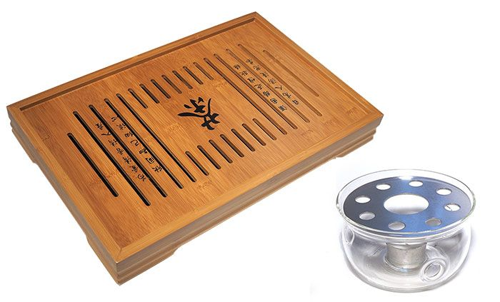 Bamboo Tray and Stand