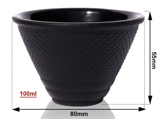 Sizing Black Cast Iron Cup