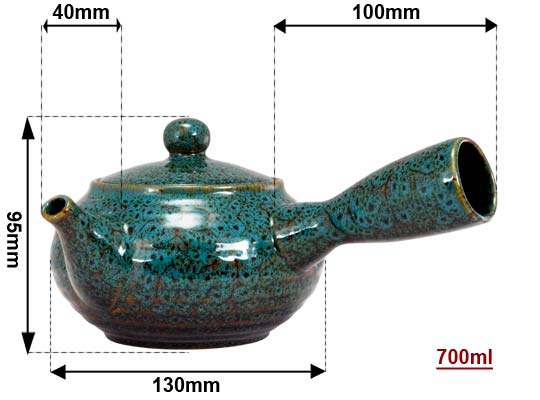 Sizing Blue Jun Ceramic Teapot