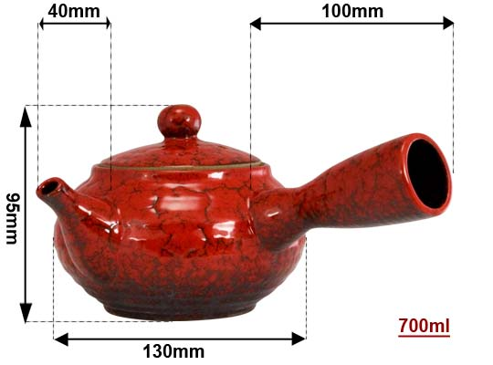Sizing Jun red teapot