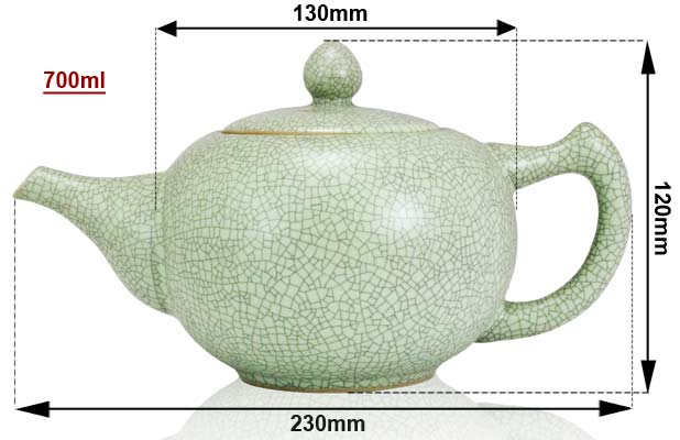 Sizing Green Ru Teapot
