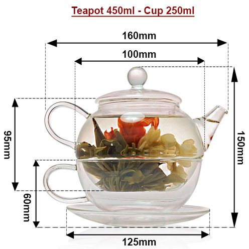 Size Teapot for one