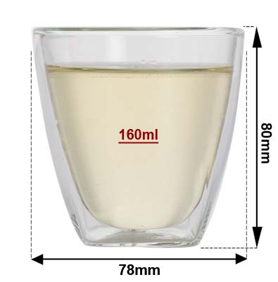 Sizing Double Wall Glass Cup