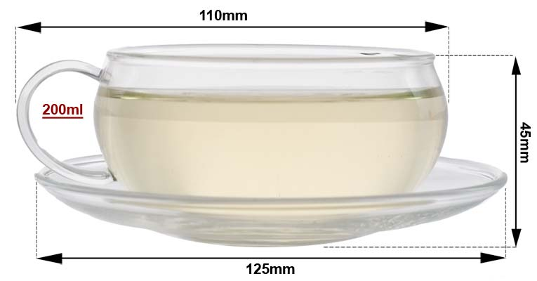 Sizing Glass Cup Saucer