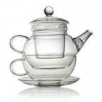 Glass Clear Teapot For One