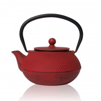 Tenshi Red Cast Iron Teapot