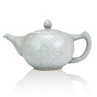 White Ru Ceramic Teapot