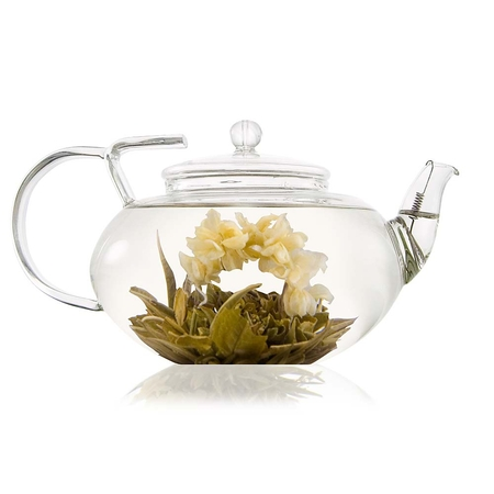Lotus Glass Teapot 1000ml
