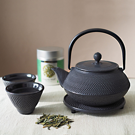 Tetsubin Black Teapot Set